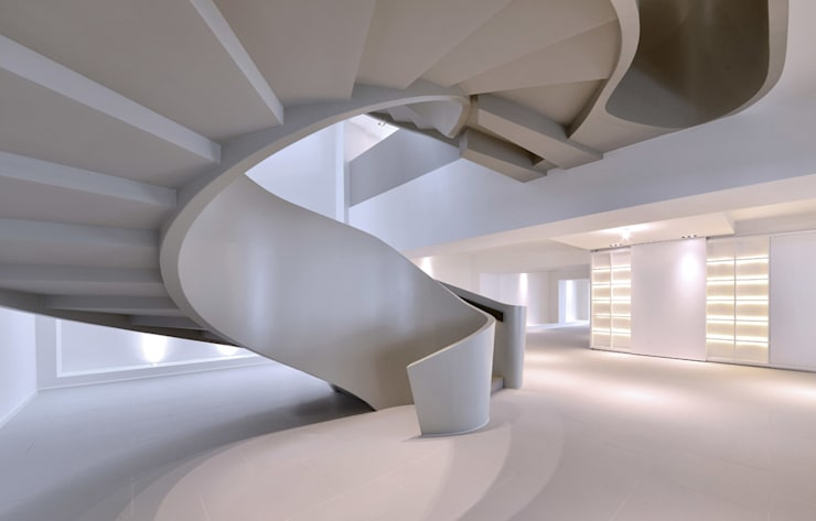 THE RIBBON HOUSE:  Corridor & hallway by FAK3