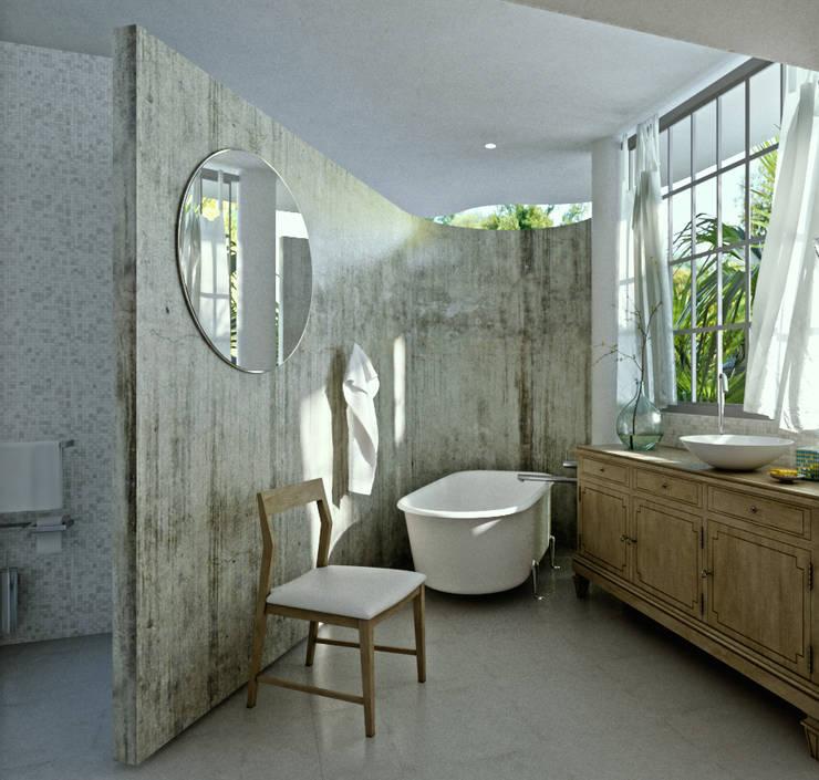 Baño M: Baños de estilo  por Labrador Arquitectos