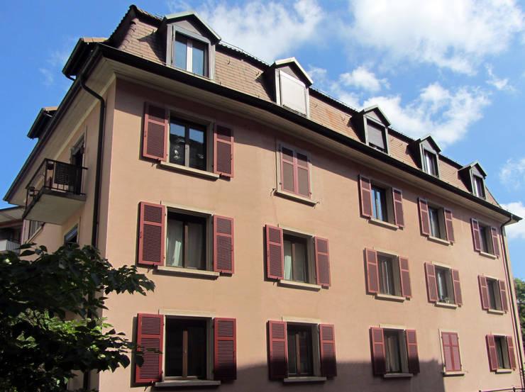 Hofansicht:  Häuser von mmarch gmbh - Mader Marti Architektur ETH SIA