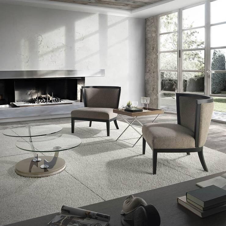 Poltronas, Cadeirões Armchairs www.intense-mobiliario.com  MARROC : Sala de estar  por Intense mobiliário e interiores;