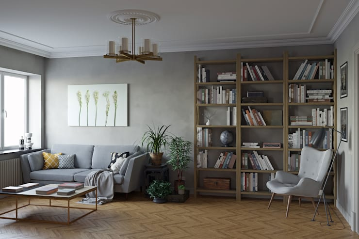 eclectic Living room by tim-gabriel