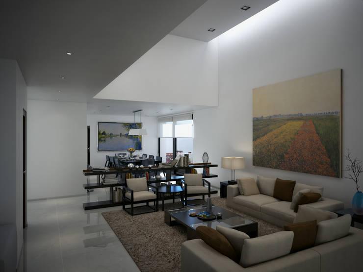 Sala y Comedor: Salas de estilo  por Ambás Arquitectos