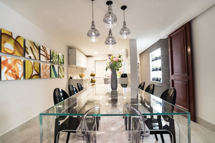 COCINA EN CDMX II: Comedores de estilo  por HO arquitectura de interiores