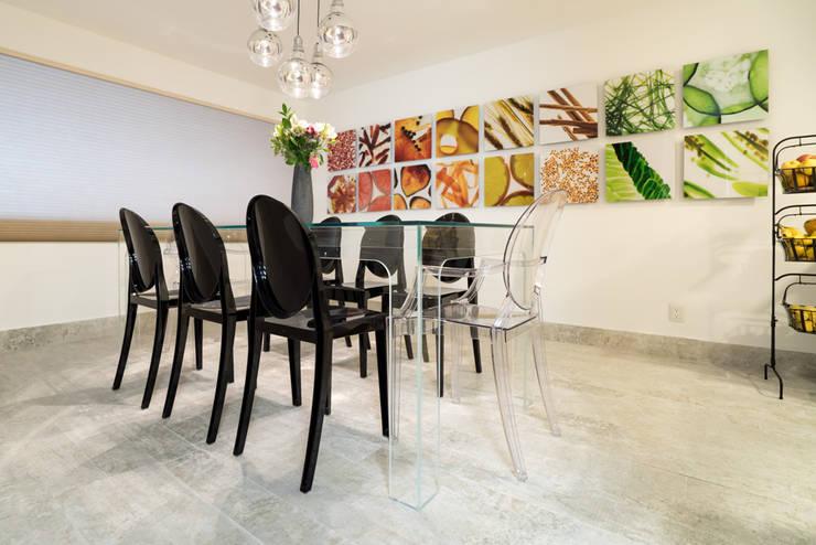 COCINA EN CDMX II: Cocinas de estilo  por HO arquitectura de interiores