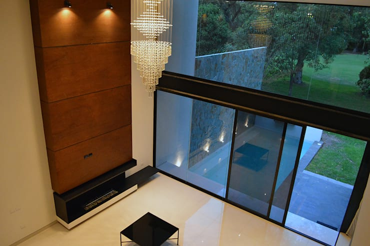 Wohnzimmer von BAG arquitectura, Modern Holz Holznachbildung