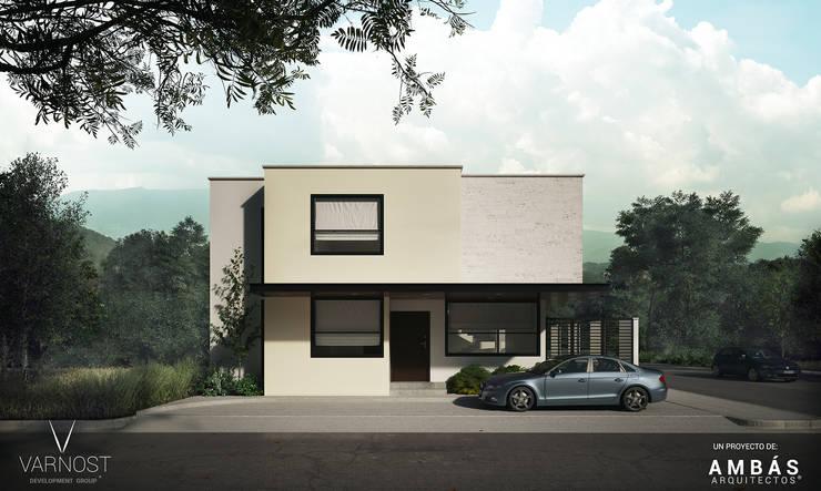Fachada Principal: Casas de estilo  por Ambás Arquitectos