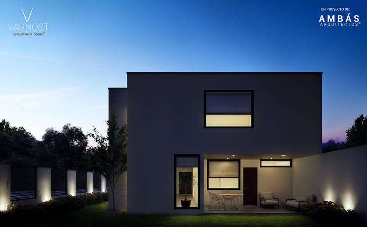 Terraza Posterior: Terrazas de estilo  por Ambás Arquitectos