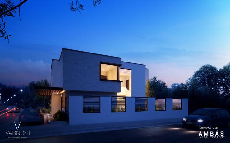 Pérgolas en Acceso: Casas de estilo  por Ambás Arquitectos