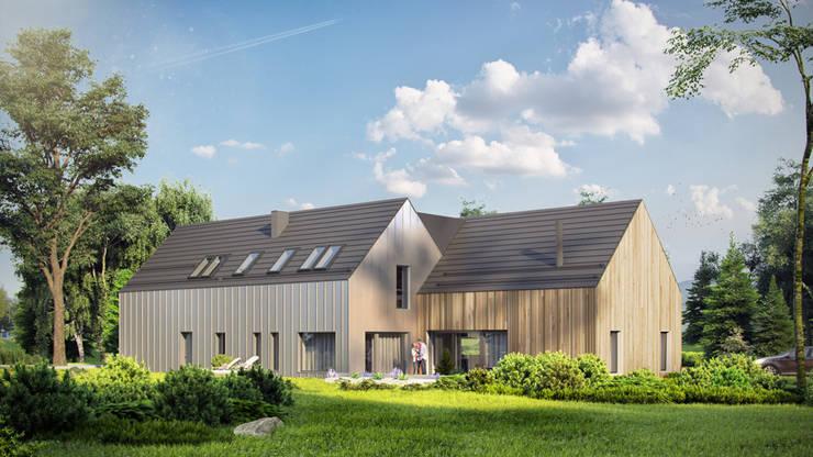 Projekty domów - House x09 - DomPP.pl: styl , w kategorii Domy zaprojektowany przez Majchrzak Pracownia Projektowa