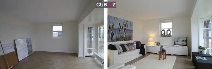 ☆Voor en Na☆ Verkoopstyling: modern  door Styled & Sold Vastgoedstyling, Modern