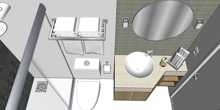 Projekty,  Łazienka zaprojektowane przez Studio4Interiores