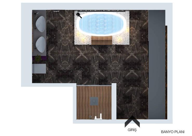 FARGO DESIGNS – B24 PROJESI BANYO:  tarz Banyo, Modern Mermer