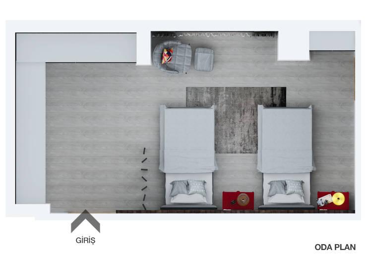 FARGO DESIGNS – B24 PROJESI ODA 1:  tarz Yatak Odası, Modern Ahşap Ahşap rengi