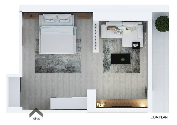 FARGO DESIGNS – B24 PROJESI ODA 3:  tarz Yatak Odası, Modern Ahşap Ahşap rengi