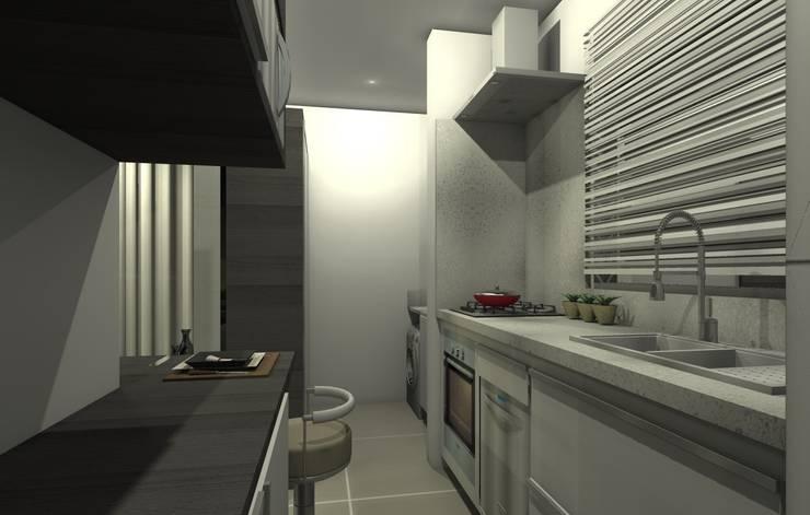 مطبخ تنفيذ Adriana Beluomini