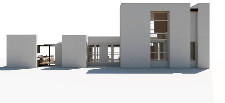 Fachada Sur: Casas unifamiliares de estilo  por 1.61 Arquitectos
