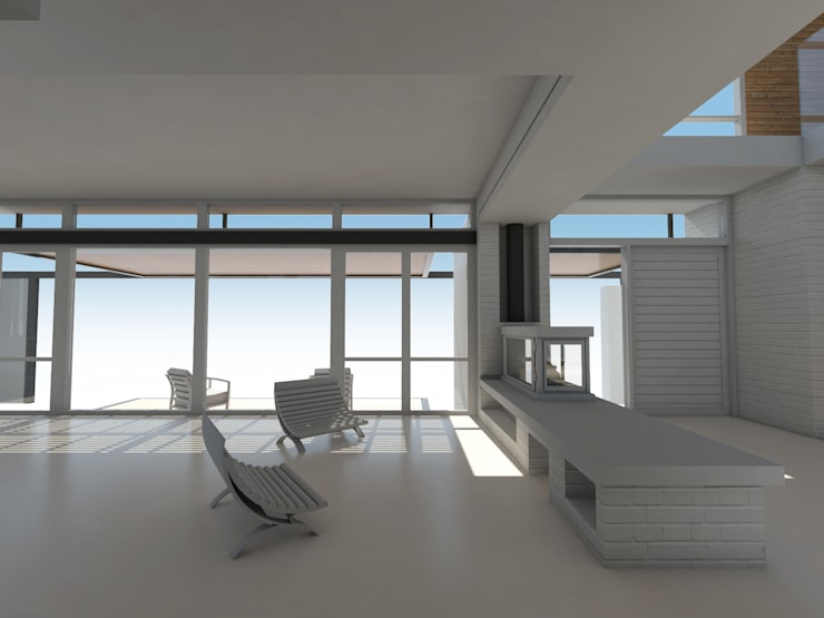 Estar / Acceso: Livings de estilo mediterraneo por 1.61 Arquitectos