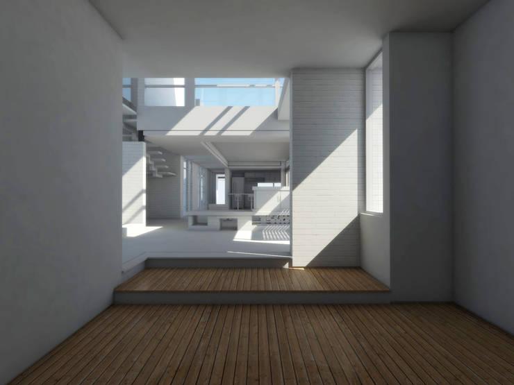 Estar / sala de tv: Livings de estilo mediterraneo por 1.61 Arquitectos