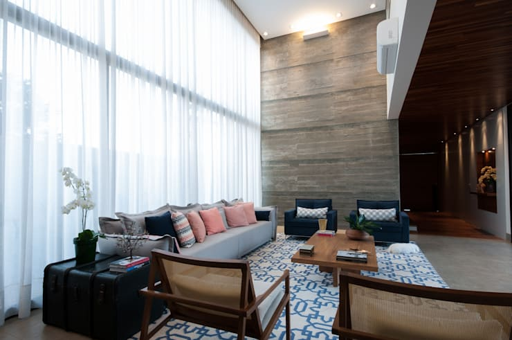 Ruang Keluarga by Elisa Vasconcelos Arquitetura  Interiores