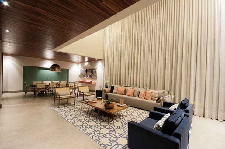 Livings de estilo  por Elisa Vasconcelos Arquitetura  Interiores