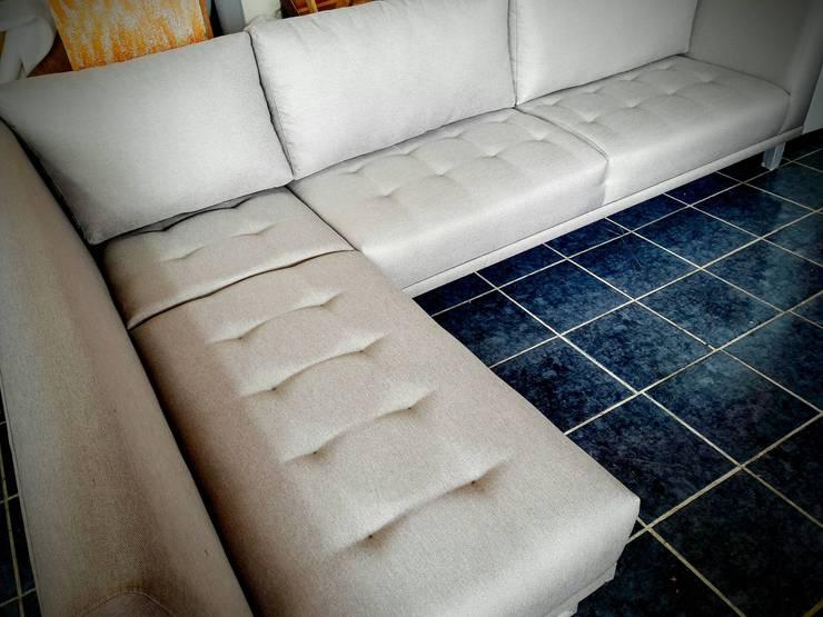 Sala en nuestro taller de fabricación de Estilo en muebles Moderno