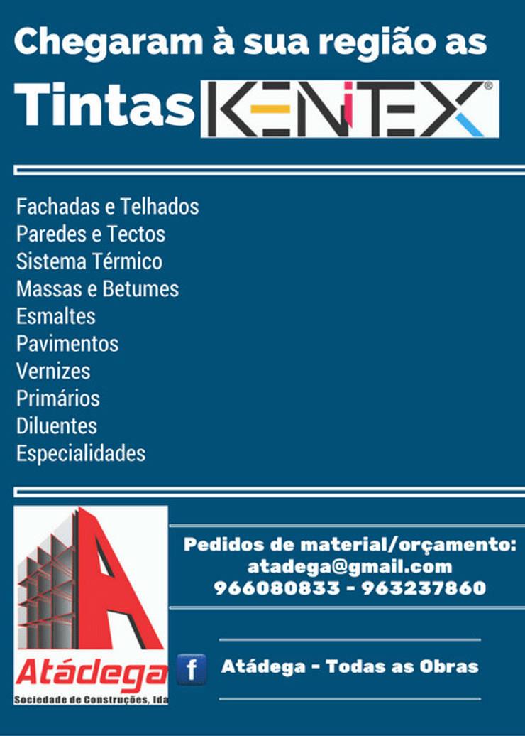 Aplicamos e fornecemos Tintas KENITEX:   por Atádega Sociedade de Construções, Lda