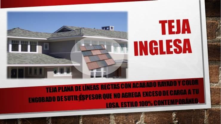 """TEJAS PLANAS """"INGLESA"""": Casas de estilo  por ENFOQUE CONSTRUCTIVO"""