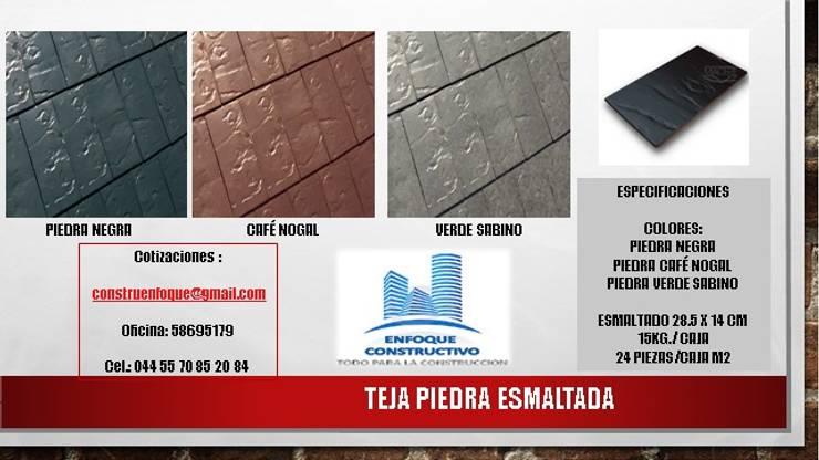 TEJA PIEDRA ESMALTADA: Casas de estilo  por ENFOQUE CONSTRUCTIVO