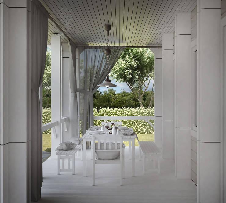 Проект дома в классическом стиле: Tерраса в . Автор – Way-Project Architecture & Design, Классический