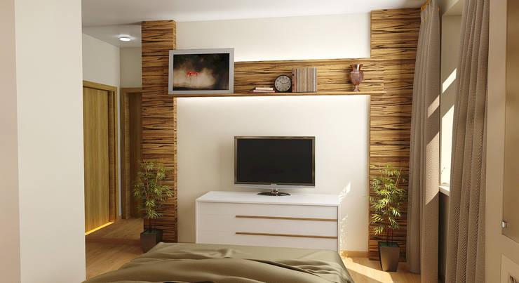 Dormitorios de estilo topical por Марина Виноградова