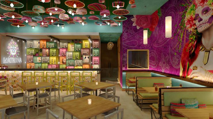 KATRINA: Restaurantes de estilo  por NOGARQ C.A.