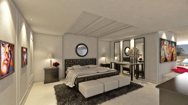 Dormitorios de estilo  de NOGARQ C.A.