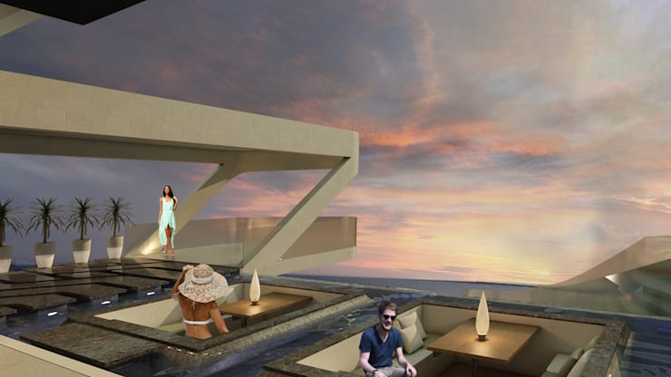 ESTES HOTEL: Piscinas de estilo  por NOGARQ C.A.