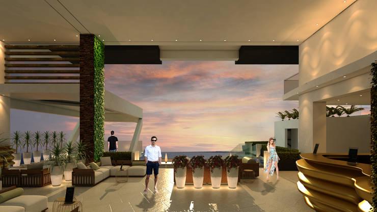 ESTES HOTEL: Salas / recibidores de estilo  por NOGARQ C.A.