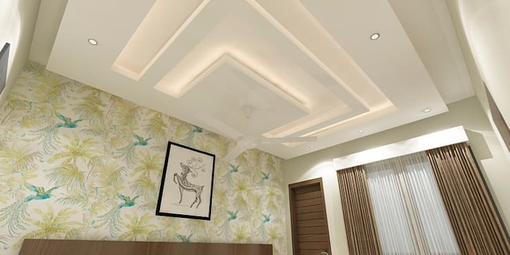 Bedroom False Ceiling: modern Bedroom by Ghar360