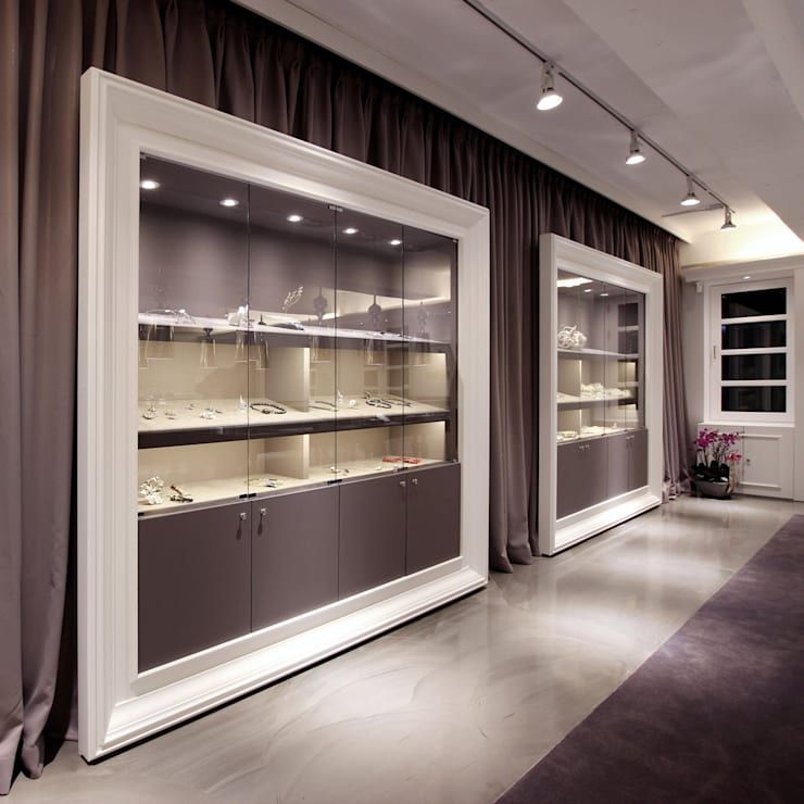 MOND JEWELRY BOUTIQUE: HJL STUDIO의  서재 & 사무실,