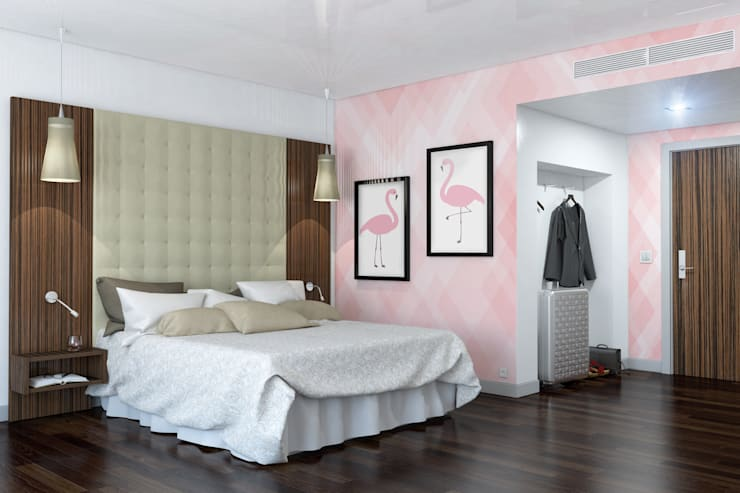 Flamingo: modern Bedroom by Pixers