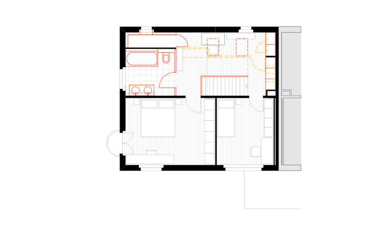 Obergeschoss:   von Beat Nievergelt GmbH Architekt