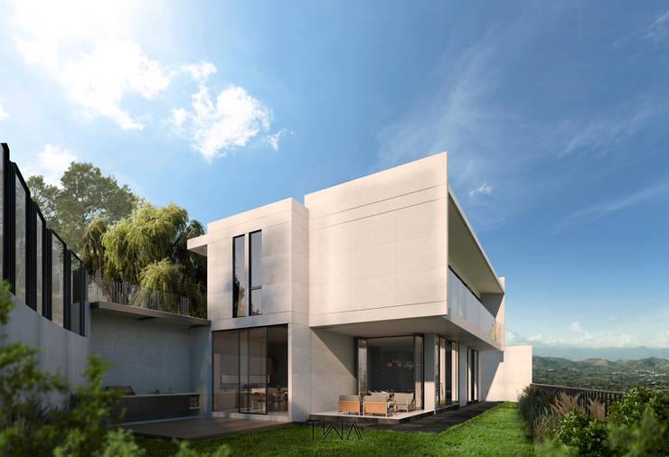 Fachada posterior: Casas de estilo  por TW/A Architectural Group