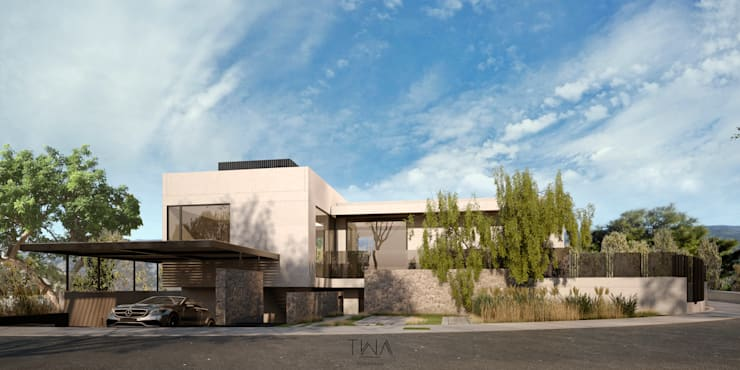Fachada principal: Casas de estilo  por TW/A Architectural Group