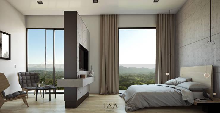Recámara principal: Recámaras de estilo  por TW/A Architectural Group
