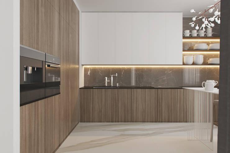 Projekty,  Kuchnia zaprojektowane przez Espace Team