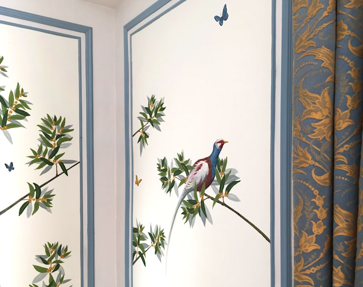  The renovation of Chambre Royale with hand-painted wallpaper:  Hotels door Snijder&CO, Klassiek