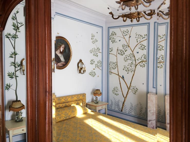  The renovation of Chambre Royale with hand-painted wallpaper:  Musea door Snijder&CO, Klassiek