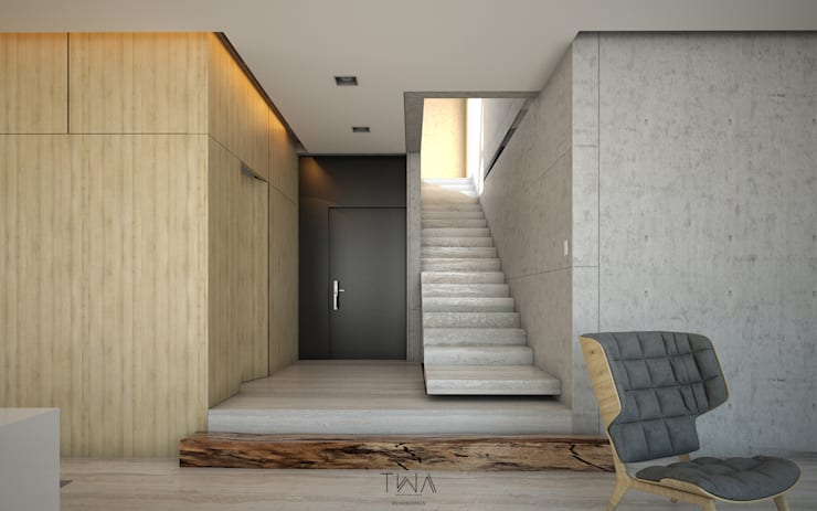 Foyer: Pasillos y recibidores de estilo  por TW/A Architectural Group