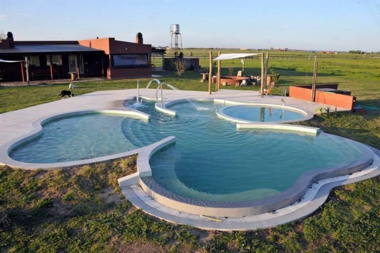 Piscina Trebol: Piletas infinitas de estilo  por Surpool - Diseño de Espacios de Agua