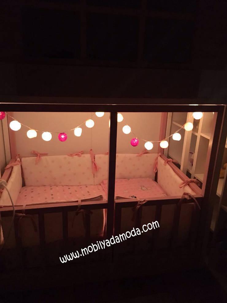 MOBİLYADA MODA  – Ela'nın Odası, Kaydıraklı Ev Ranza Altı Montessori Yataklı:  tarz Çocuk Odası, Modern Ahşap Ahşap rengi