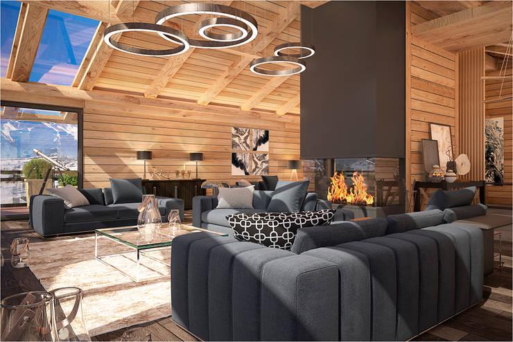 غرفة المعيشة تنفيذ GM-interior