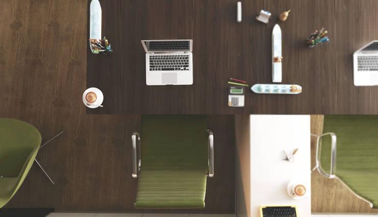 GN İÇ MİMARLIK OFİSİ – Yeşil Vadi Arsa Ofisi: modern tarz , Modern Ahşap Ahşap rengi