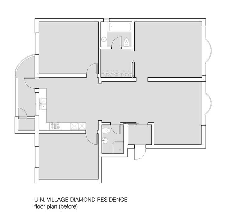 U.N. VILLAGE DIAMOND RESIDENCE: HJL STUDIO의 미니멀리스트 ,미니멀